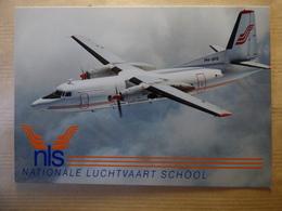 AIRLINE ISSUE / CARTE COMPAGNIE      NLS  / NATIONALE LUCHTVAART SCHOOL  FOKKER 27 - 1946-....: Ere Moderne