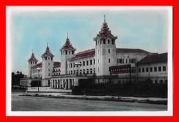 CPSM/pf RANGOON (Birmanie)  Railway Station...K846 - Myanmar (Burma)