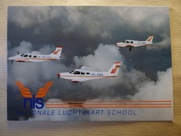 AIRLINE ISSUE / CARTE COMPAGNIE      NLS  / NATIONALE LUCHTVAART SCHOOL  SENECA / ARROW / WARRIOR - 1946-....: Ere Moderne