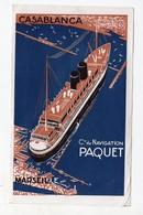 (paquebots) Vue Du CASABLANCA  (Paquet) Liaison Marseille-Maroc  (PPP11655) - Advertising