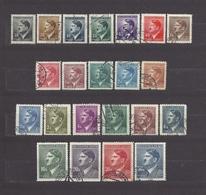 Bohemia & Moravia Böhmen Und Mähren 1942 Gest ⊙ Mi 89-110 Sc 62-83 Hitler Komplete Series 22 Stamps - Gebraucht