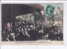 BESANCON : Les Fêtes De 1909 - Tribune Officielle à L'inauguration Du Général Jeanningros (rare En Couleur)très Bon état - France