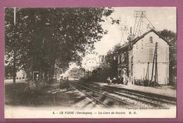 Cp Le Pizou La Gare De Soubie - éditeur M Delboy N°3 - Andere Gemeenten