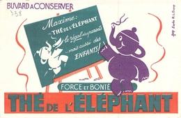 Ancien Buvard Collection THE DE L ELEPHANT D APRES DUPUY - Koffie En Thee