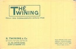 Ancien Buvard Collection THE TWINING 10 RUE GASTON PAYMAL CLICHY LA GARENNE - Koffie En Thee