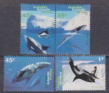 Antarctique Australien N° 102 / 05 XX  Faune Marine : Baleines Et Dauphins, Les 4 Valeurs Sans Charnière, TB - Territoire Antarctique Australien (AAT)