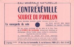 Ancien Buvard Collection EAU MINERALE NATURELLE DE CONTREXEVILLE SOURCE DU PAVILLON 8 RUE DE HANOVRE PARIS 2° - Buvards, Protège-cahiers Illustrés