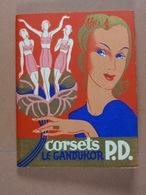 Calendrier 1939 Art Déco Corsets Le Gandukor P.D. Maison Jacquemin Couvin (5,2 Cm X7,3 Cm) 33 Pages - Calendars
