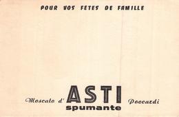 Ancien Buvard Collection MOSCATO ASTI SPUMANTE - Vloeipapier