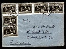 A6608) Polen Poland Brief Lipiny Slaskie 21.12.48 N. Erfurt / Germany M. MeF - 1944-.... Republic