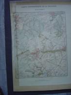1882 - Ancienne Carte - TERVUEREN - OVERIJSE - HOEILAERT - Cartes Topographiques