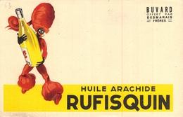 Ancien Buvard Collection HUILE ARACHIDE RUFISQUIN DESMARAIS FRERES - Buvards, Protège-cahiers Illustrés