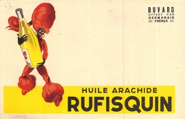 Ancien Buvard Collection HUILE ARACHIDE RUFISQUIN DESMARAIS FRERES - H