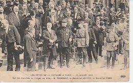 20 / 2 / 402. -    LES. FÊTES DE LA. VICTOIRE A PARIS - 13 / 7 / 1919   C PA.   DOCUMENT. Dos  -  Divisé        Circulé - Réceptions