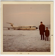 AEREO PLANE AIRCRAFT BRITISH UNITED INCIDENTE GENNAIO 1969 - FOTO POLAROID ORIGINALE - Aviation