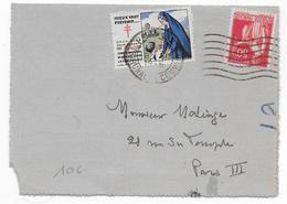 1935 - VIGNETTE TUBERCULOSE + PAIX Sur CARTE-LETTRE De PARIS - Antituberculeux