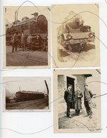 4 PHOTOGRAPHIES. Train Vapeur, Micheline, 141 C , 262 AE.I . P L M , SNCF, Electrique SAINT-JEAN .Années 1925. 1929 - War, Military