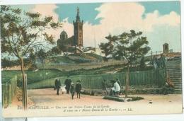 Marseille 1923; Une Vue Sur Notre-Dame De La Garde - Voyagé. (LL.) - Autres