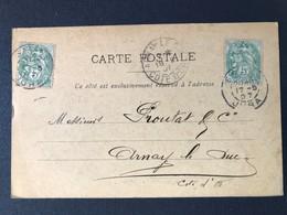 CPA Jura Maison Toubin Delaborde Salins Quincaillerie Fers Métaux Cachet Marque Postale - Poststempel (Briefe)