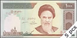 TWN - IRAN 143g - 1000 1.000 Rials 2007-2008 DEALERS LOT X 5 - Series 15/12 - Signature: Mazaheri & Hosseini UNC - Iran
