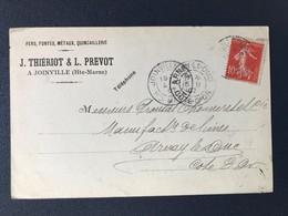 CPA Joinville Haute Marne Quincaillerie Fers Fonte Métaux Cachet Marque Postale - Poststempel (Briefe)