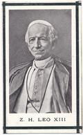 Bidprent Paus Leo XIII / 1903 - Devotieprenten