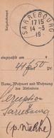COUPON De Versement Obl SARREBOURG Du 14.3.19 - Marcophilie (Lettres)