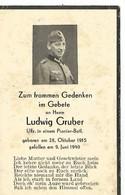 Sterbebild ,carte De Décès Unteroffizier Pionnier :  ARDENNES (08 )  1940 Campagne De France. DEATH CARD . - 1939-45