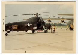 ELICOTTERO HELICOPTER AEROPORTO DI TORINO CASELLE - FOTO ORIGINALE 1968 - Aviation