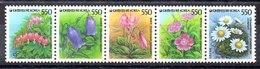 Cotrea Sur Serie Completa N ºYvert 1351/55 ** FLORES (FLOWERS) - Corea Del Sur