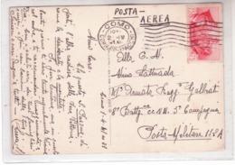 Cartolina Di Posta Aerea Da COMO 1/4/41 Per P.M. Con FRatellanza C.75 Isolato K70 - Marcofilie (Luchtvaart)