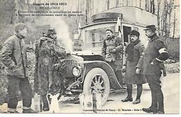 Carte Postale-En Argonne Automobile Ambulance Se Ravitaillant En Essence -cp écrite En 15 - France