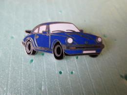 PIN'S    PORSCHE  911 BLEU  Email Grand Feu - Porsche