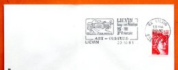 62 LIEVIN ART CULTURE   1981 Lettre Entière N° HI 102 - Mechanische Stempels (reclame)