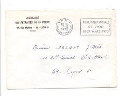 OBLITERATION PORT PÄYE DE LYON 1972 - Marcophilie (Lettres)