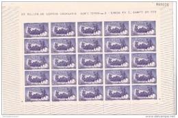 España Nº 1255 En Pliego De 25 Sellos - 1951-60 Nuevos & Fijasellos