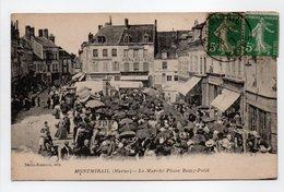 - CPA MONTMIRAIL (51) - Le Marché Place Remy-Petit 1917 (belle Animation) - Edition Bertin-Biémont - - Montmirail
