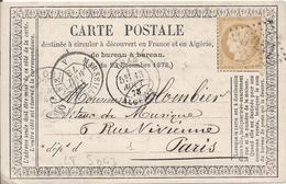 LT5043  N°59/carte Postale, Oblit GC étranger 5051 Oran, (Oran)???(Algérie) Pour Paris (60) Du 13 Aout 1873 - 1871-1875 Cérès