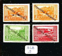 ALB YT 151/154 En XX - Albania