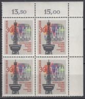 BERLIN  309, 4erBlock Eckrand, Postfrisch **, DFA 1967 - Unused Stamps