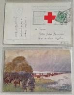 Cartolina Postale Commemorativa IV Guerra Per L'Indipendenza Ital. Edizione C.R.I. - 24/01/1915 Ancona-Rep.San Marino - Storia Postale