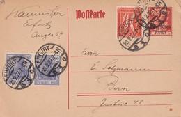 ALLEMAGNE 1922     ENTIER POSTAL  /GANZSACHE/POSTAL STATIONERY  CARTE DE ERFURT - Germania