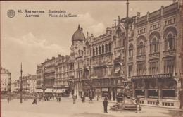 Antwerpen Anvers Statieplein Astridplein Geanimeerd Restaurant Paon Royal Place De La Gare  (In Zeer Goede Staat) - Antwerpen