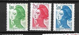 FRANCE 1985  Lot De 3 Valeurs  N°2375 à 2377   NEUFS - France