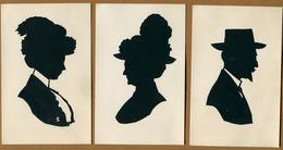 "NANCY  (54) : CARTES "" SILHOUETTE "" - DECOUPAGE PROFIL COLLE  (1913) - Silhouettes"