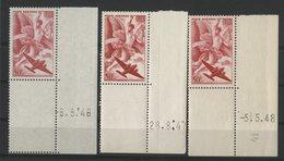 N° 17 (x3) POSTE AERIENNE Neufs ** (MNH). Coins Datés Du 6/5/46, 28/8/47 Et 5/5/48. TB - 1940-1949