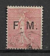 FRANCE Franchise Militaire 190/1907  N° 4  OBLITERE - Franchise Stamps