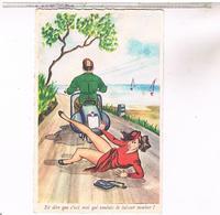 Illustrateur       HUMOUR  PIN UP VESPA ET DIRE QUE C EST MOI - 1900-1949