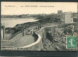 CPA - SAINT LUNAIRE - Promenade Du Décollé, Animé - Saint-Lunaire