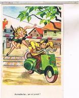 Illustrateur       HUMOUR  PIN UP VESPA  ACCROCHE TOI - 1900-1949